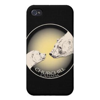 Arte del oso polar del caso del iPhone 4 del recue iPhone 4 Funda