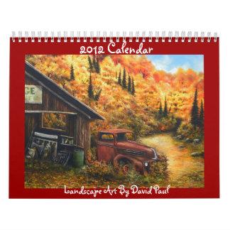 Arte del paisaje de 2012 calendarios de David Paul