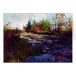 """Arte del paisaje de la caída del """"otoño"""" tarjeta pequeña"""