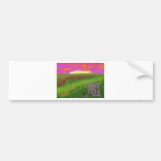 Arte del paisaje de la primavera pegatina para auto