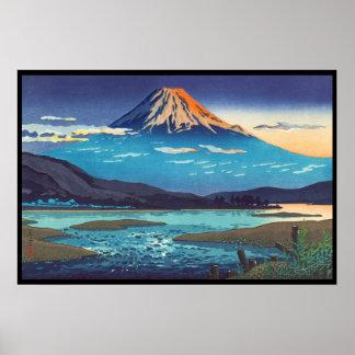 Arte del paisaje de Tsuchiya Koitsu Tokaido Fujika Póster