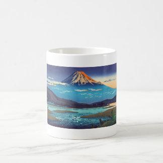 Arte del paisaje de Tsuchiya Koitsu Tokaido Taza Clásica