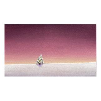 Arte del paisaje del invierno poca nieve del árbol tarjeta personal