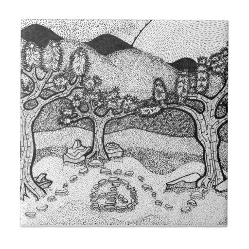 Arte del paisaje del zen azulejos cerámicos