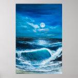 Arte del paisaje marino encendido poster