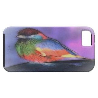 Arte del pájaro del color iPhone 5 fundas