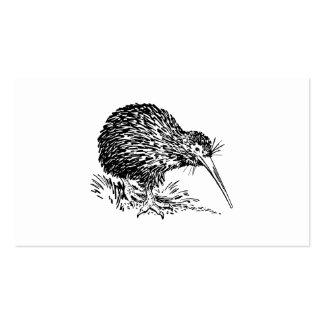 Arte del pájaro del kiwi tarjeta de visita
