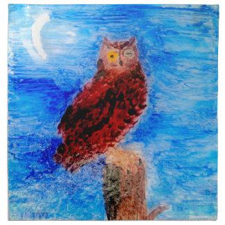 Arte del pájaro del noctámbulo servilletas
