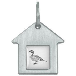 Arte del pájaro del pato placa mascota