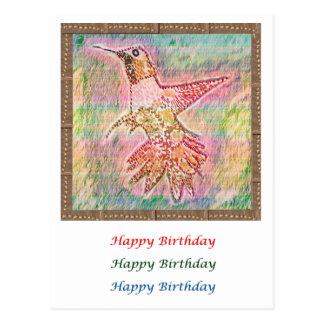 Arte del pájaro del tarareo - HappyBirthday HappyH Postal