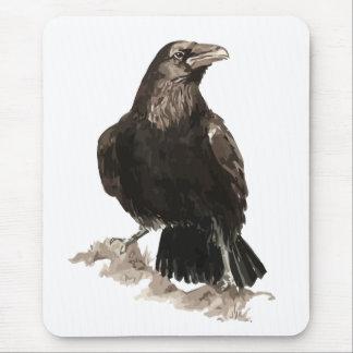 Arte del pájaro y del animal del cuervo de la acua alfombrilla de ratón