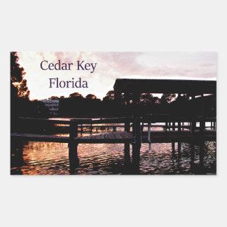 Arte del pantano dominante del cedro - la Florida Pegatina Rectangular