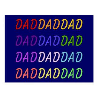 Arte del papá del arco iris tarjeta postal