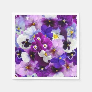 Arte del papel pintado de la flor del pensamiento servilletas desechables