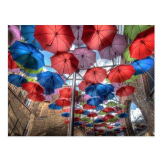 Arte del paraguas, mercado de la ciudad, Londres Tarjetas Postales