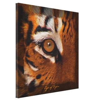 Arte del partidario de la fauna del ojo del tigre  impresion de lienzo