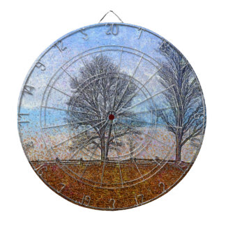 Arte del pasto de las cercas de los árboles y de