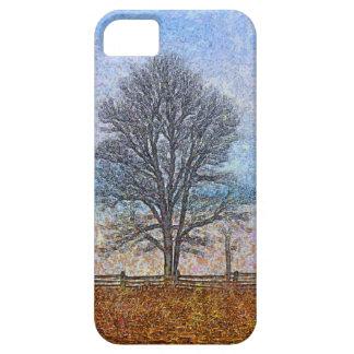 Arte del pasto de las cercas de los árboles y de iPhone 5 cárcasa