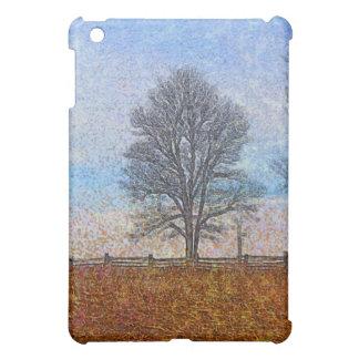 Arte del pasto de las cercas de los árboles y de l iPad mini fundas