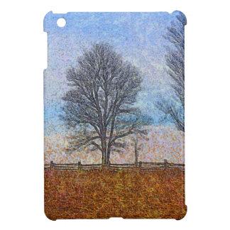 Arte del pasto de las cercas de los árboles y de l iPad mini carcasa