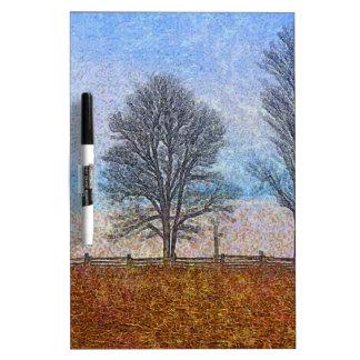 Arte del pasto de las cercas de los árboles y de l pizarra