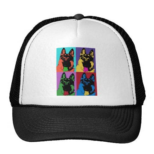 Arte del pastor alemán gorras
