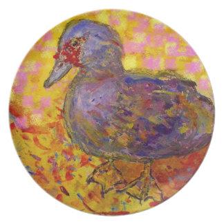 arte del pato de muscovy platos
