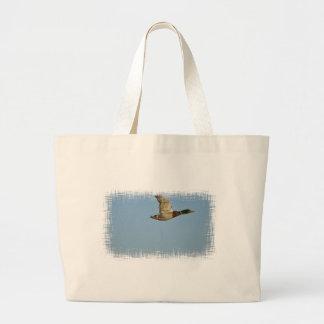 Arte del pato del pato silvestre del vuelo para lo bolsa tela grande