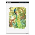 Arte del pavo real del vintage iPad 3 pegatina skin