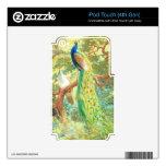Arte del pavo real del vintage iPod touch 4G calcomanías