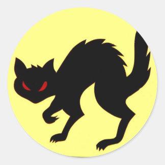 Arte del pegatina del gato negro de los aviones de
