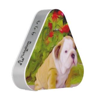 Arte del perrito del dogo altavoz
