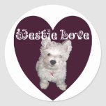 Arte del perro: Amor de Westie Etiquetas
