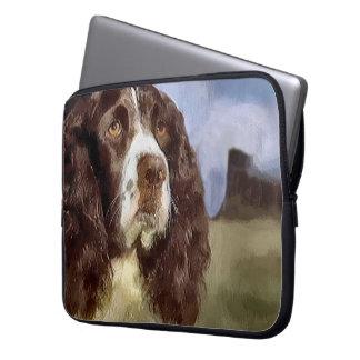 Arte del perro de aguas de saltador inglés mangas computadora
