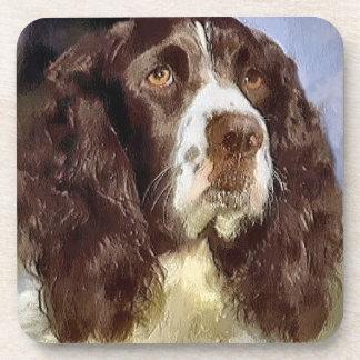 Arte del perro de aguas de saltador inglés posavaso