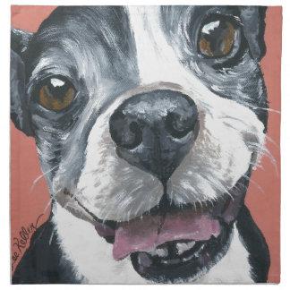 Arte del perro de Boston Terrier Servilletas De Papel