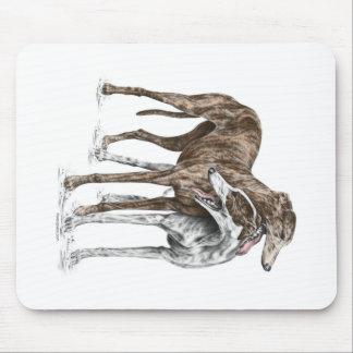 Arte del perro de dos amigos del galgo mousepad