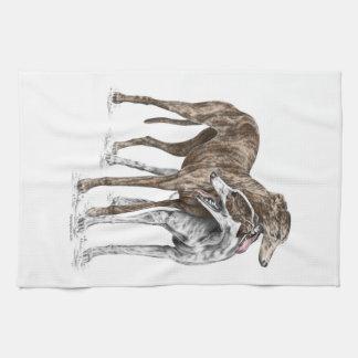 Arte del perro de dos amigos del galgo toallas