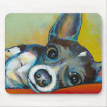 Arte del perro de la chihuahua - pintura adorable  alfombrillas de ratones