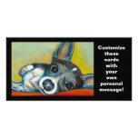 Arte del perro de la chihuahua - pintura adorable  tarjeta fotográfica