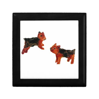 Arte del perro de la diversión de Terrier Caja De Recuerdo