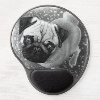 Arte del perro de perrito del barro amasado alfombrilla de ratón con gel