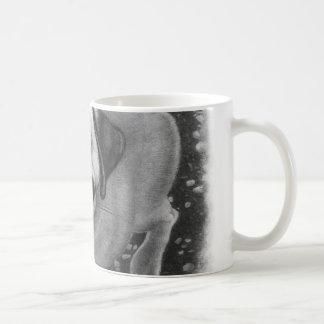 Arte del perro de perrito del barro amasado taza de café