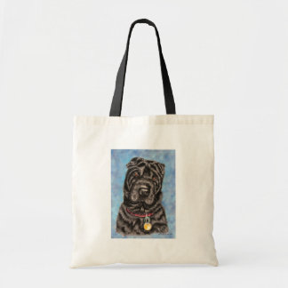 Arte del perro de Shar-Pei del chino - Tia Bolsa Tela Barata