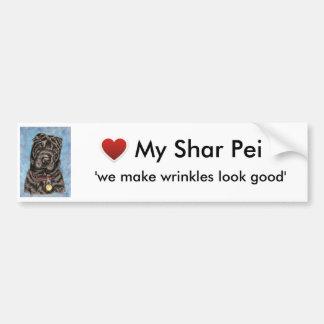 Arte del perro de Shar-Pei del chino - Tia Pegatina Para Auto