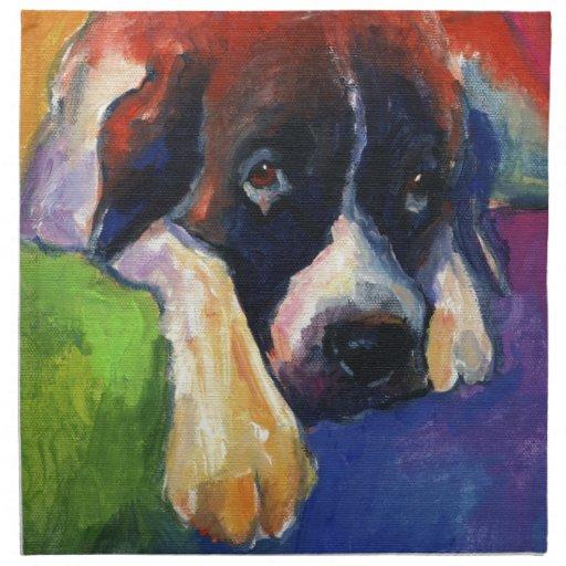 Arte del perro de St Bernard Servilleta
