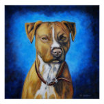 Arte del perro de Staffordshire americano Terrier  Poster