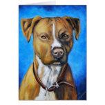 Arte del perro de Staffordshire americano Terrier  Tarjeton