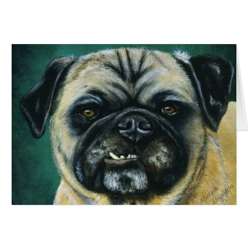 Arte del perro del barro amasado - mi cara feliz tarjeta de felicitación