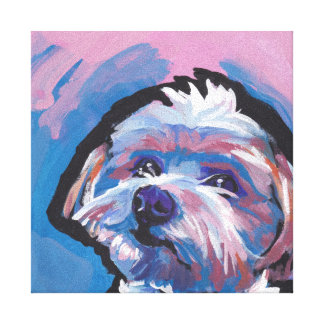 arte del perro del estallido de la raza del lienzo envuelto para galerias